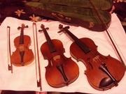 Скрипки разных размеров в отличном состоянии