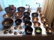 Поющие чаши.Настоящие кованые тибетские.